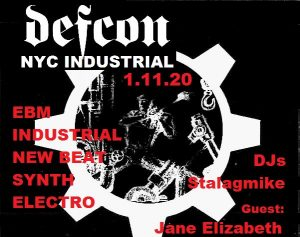DEFCON Industrial/EBM Night w/Guest DJ Jane Elizabeth